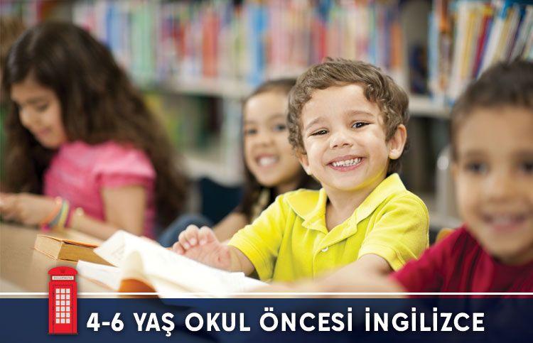 4-6 Yaş Okul Öncesi İngilizce Kursu